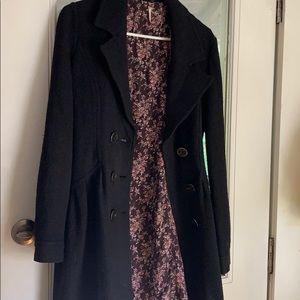 Free people black pea coat